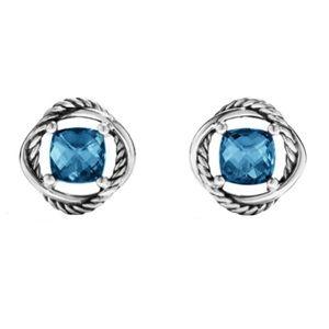 David Yurman Hampton Blue Infinity Earrings